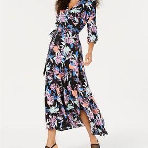 NWT BAR III Hibiscus Printed Wrap Maxi Dress #QQ6